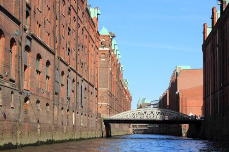 Hamburg, Germany - Speicherstadt (Warehouse District). Old harbor warehouses.