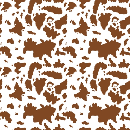 Brown cow seamless pattern - vector illustration graphics. Illustration