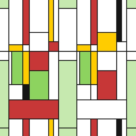 Simple modern pattern - seamless texture in Mondrian style. Design for gift wrapping paper or bedsheet.