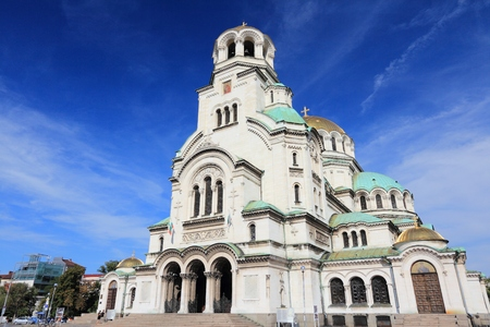 Bulgaria - Sofia Cathedral of St. Alexander Nevsky. Balkan landmarks.