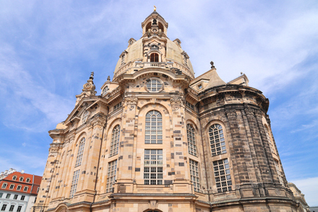 Dresden, Germany - Frauenkirche Lutheran church. Baroque religious architecture.