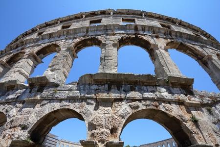 Pula Amphitheatre - Ancient Roman landmark in Pula, Croatia.