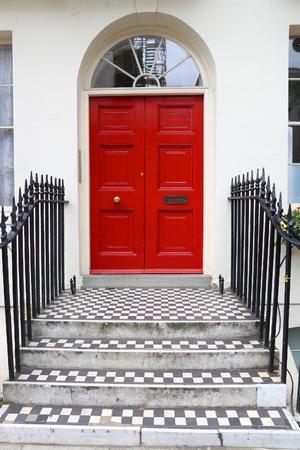 Bloomsbury in West End of London, UK - beautiful Georgian front door. Banco de Imagens