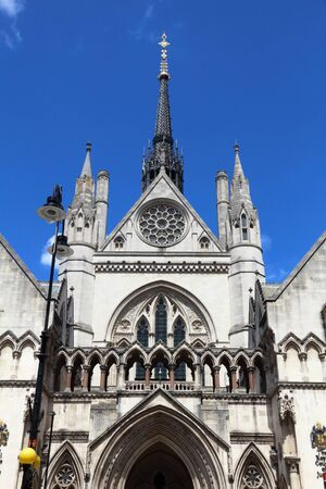 The Royal Courts of Justice in London, UK. London landmark. Фото со стока