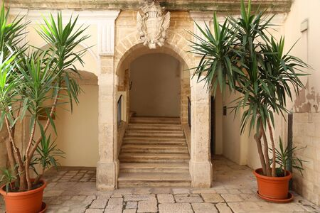 Bari Old Town - architecture in Apulia, Italy. Stock Photo