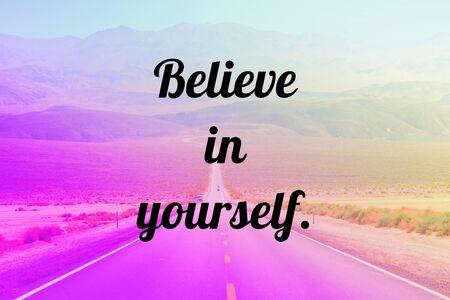 Croyez en vous-même - texte d'affiche de motivation d'inspiration de confiance en soi. Banque d'images