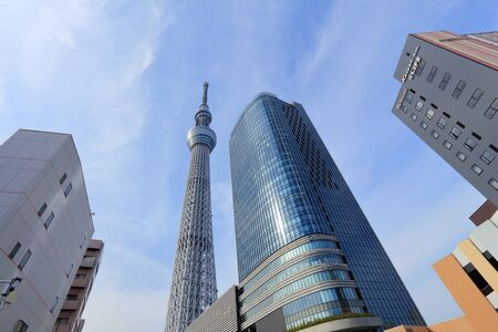 TOKYO, JAPAN - NOVEMBER 30, 2016: Skytree tower in Tokyo, Japan. The 634m tall TV tower is the 2nd tallest structure in the world.