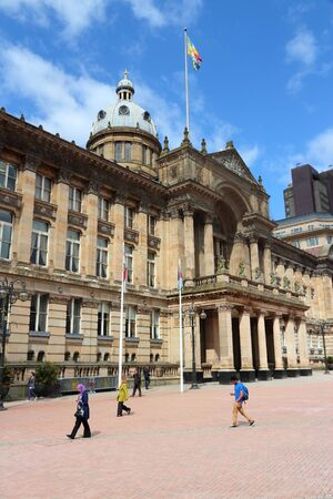 BIRMINGHAM, UK - APRIL 19, 2013: People visit Victoria Square in Birmingham. Birmingham is the most populous British city outside London with 1,074,300 residents (2011 census).