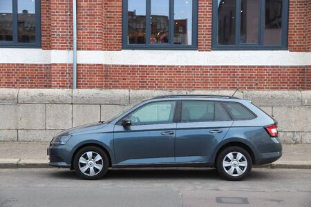LEIPZIG, GERMANY - MAY 9, 2018: Skoda Rapid compact station wagon car parked in Germany. There were 45.8 million cars registered in Germany (as of 2017).