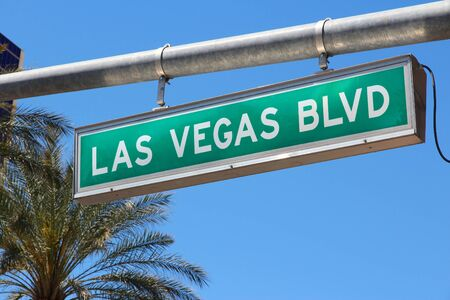 Las Vegas, Nevada. Las Vegas Boulevard sign (the Strip).