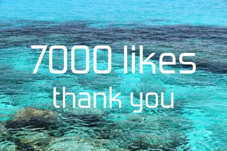 7000 likes. Thank you banner. Social media milestone.