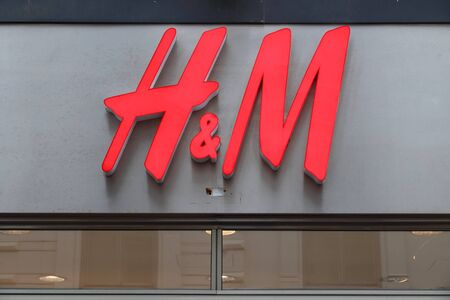 GOTHENBURG, SWEDEN - AUGUST 27, 2018: H&M fashion store in Gothenburg, Sweden. H&M is a Swedish brand known internationally for its casual collection. Redakční