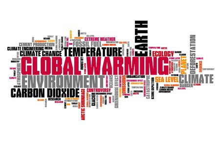 Global warming word cloud. Climate change concept.