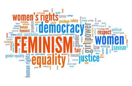 Feminism word cloud. Equal gender rights concept. Stock fotó - 130688515