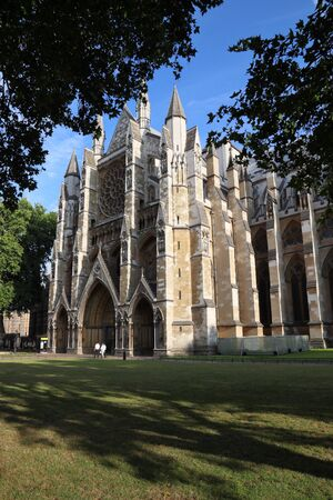 Westminster Abbey, London. Gothic abbey church in the City of Westminster.