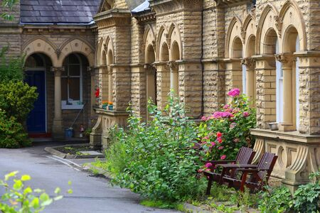 Saltaire - Victorian model village in Shipley (England) listed as UNESCO World Heritage Site.
