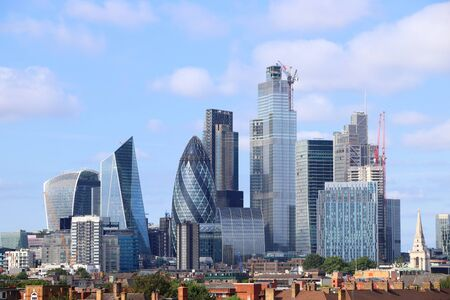 City of London skyline with modern office buildings.