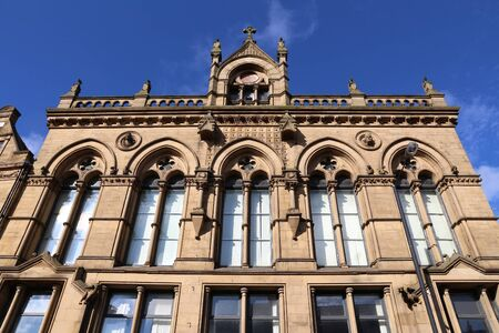 Bradford, city in West Yorkshire, England. Old architecture. Banco de Imagens