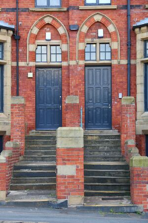 Leeds, UK - residential architecture near the university. Woodhouse district.