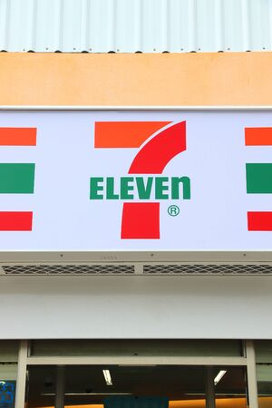 KENTING, TAIWAN - NOVEMBER 28, 2018: 7-Eleven convenience store in Taiwan. 7-Eleven is one of largest grocery store operators in the world, with more than 68,000 locations. 報道画像