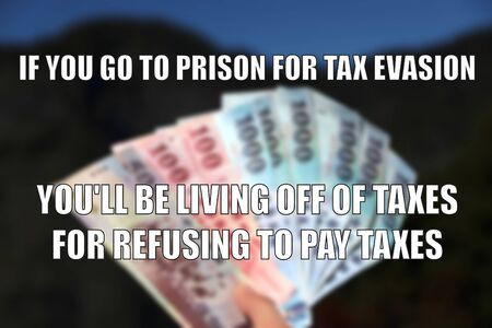 Tax evasion funny meme for social media sharing. Tax fraud concept.