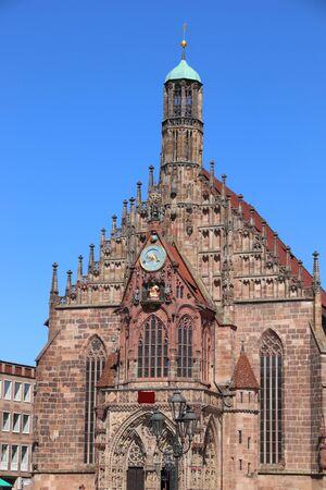 Nuremberg, Germany. Frauenkirche (Church of Our Lady). German landmark. Stockfoto