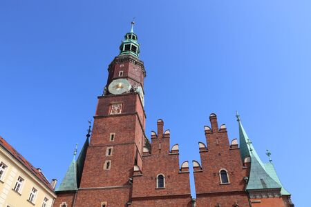 Wroclaw city landmarks -  Old Town Hall at Rynek square. Wroclaw, Poland.
