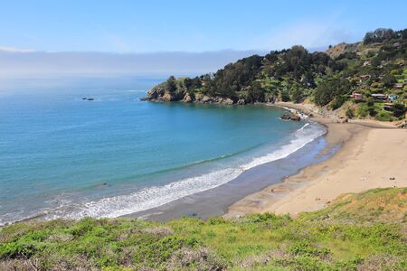 Muir Beach in Marin County, California, United States.