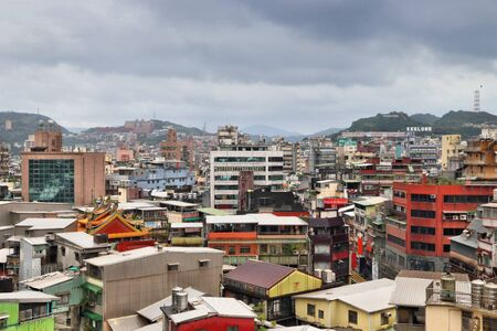 Keelung city, Taiwan - urban cityscape with modern architecture.