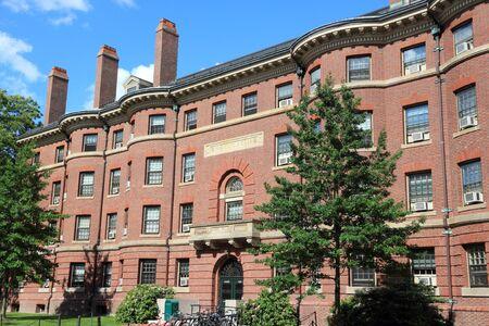 Universidad de Harvard en Cambridge, Massachusetts en Estados Unidos. Conant Hall de la Facultad de Artes y Ciencias de Harvard. Foto de archivo