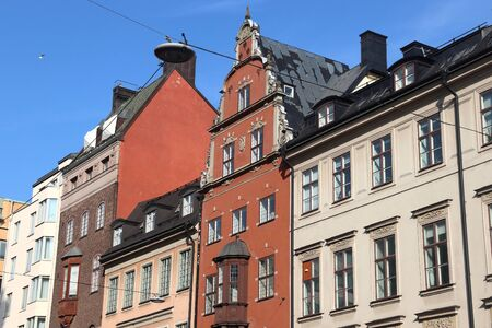 Stockholm Old Town in Sweden. Street view of Gamla Stan district.
