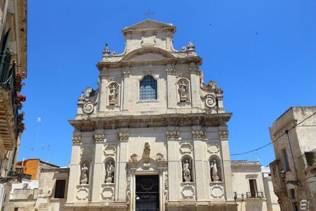 Lecce, Italy. Baroque church - Saint Mary of Providence (Santa Maria della Providenzia).