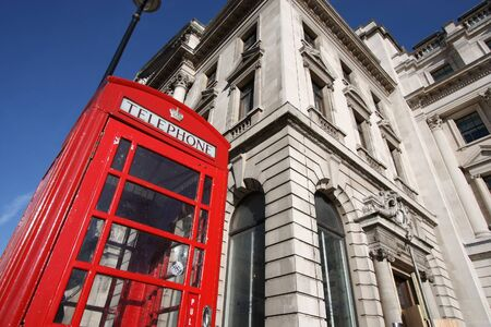 London phone booth - red telephone kiosk in the UK.