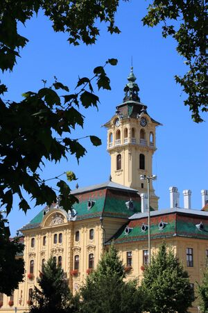 Szeged town in Hungary. Town in Csongrad county. Local government - city hall institutions.