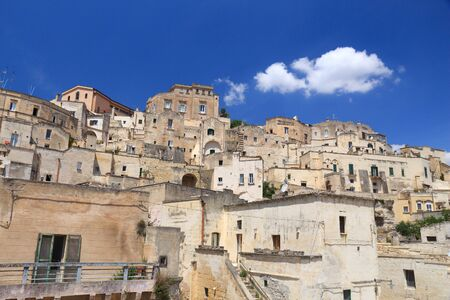 Matera, Italy. Sassi districts of rock and cave houses. UNESCO World Heritage Site. Reklamní fotografie