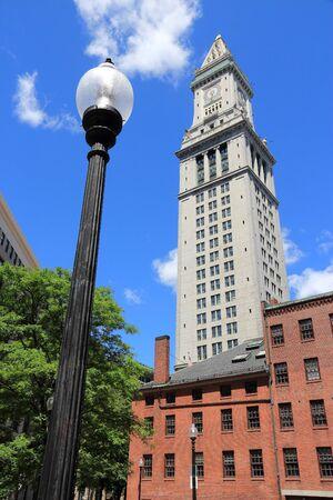 Boston - Custom House Tower. Massachusetts in the USA.