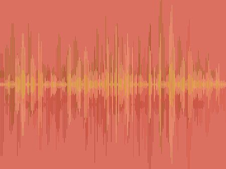 Sound wave vector design. Electronic audio sound digital display.