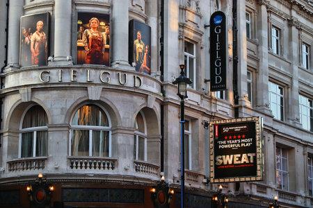 LONDON, UK - JULY 14, 2019: Gielgud Theatre in London, UK. It is one of London West End theatres. In 2013 West End theatres sold 14.5 million tickets.