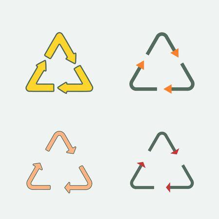 Recycle symbol vector - icon set. Eco icons.