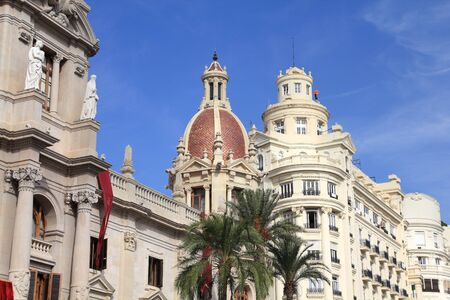 Valencia city, Spain. Old architecture - Town Hall.