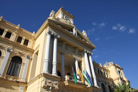 Malaga City Hall in Andalusia, Spain. Spanish landmarks.