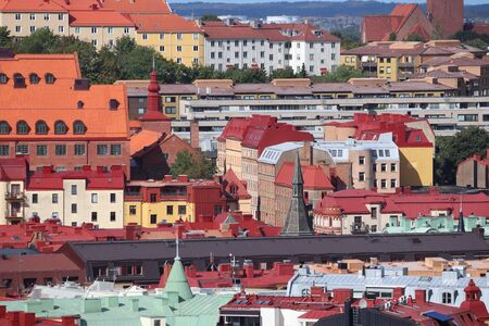 Gothenburg city, Sweden - urban cityscape with Olivedal and Masthugget districts. Sweden landmarks.