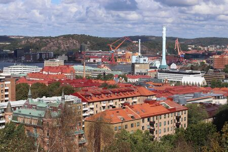 Gothenburg city, Sweden - urban cityscape with Vasastaden district.