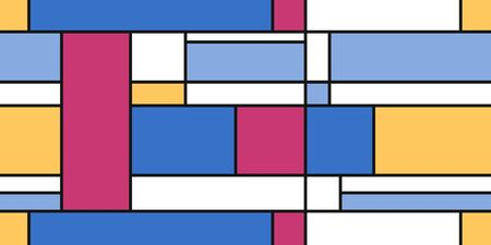Mondrian geometric style art - seamless modern simple background. Textile or gift paper design.