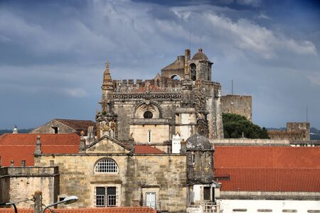 Tomar Convent of Christ - Knights Templar monastery in Portugal.