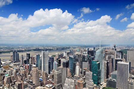 New York aerial view - Midtown Manhattan cityscape. Banque d'images