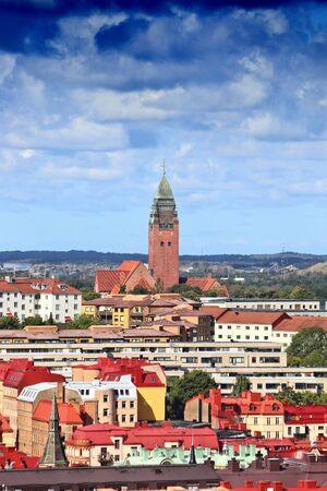 Gothenburg city, Sweden - urban cityscape with Masthugget district. Sweden landmark.