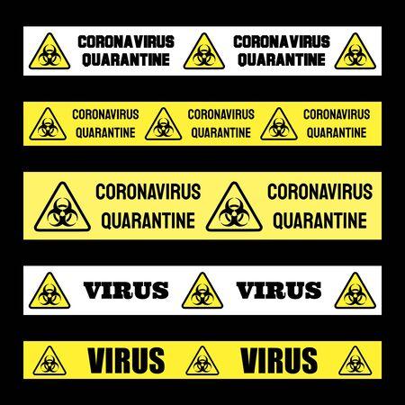 Coronavirus quarantine banner vector sign. Covid-19 pandemic. Virus infection danger warning.