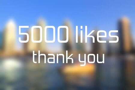 5000 likes. Thank you banner. Social media milestone.