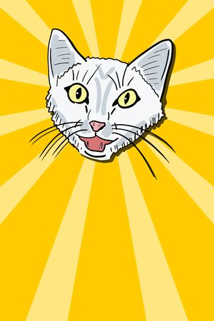 Cool meowing cat meme. Funny internet lolcat with copy space for your message.